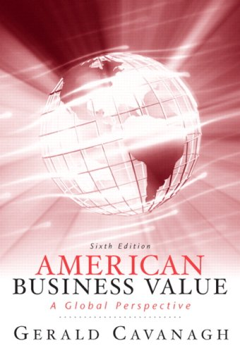 American Business Values  6th 2010 edition cover