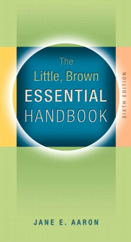 Little, Brown Essential Handbook, MLA Update Edition  6th 2009 edition cover