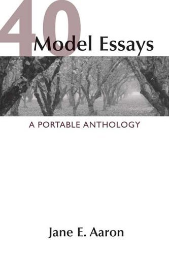 40 Model Essays A Portable Anthology  2005 edition cover