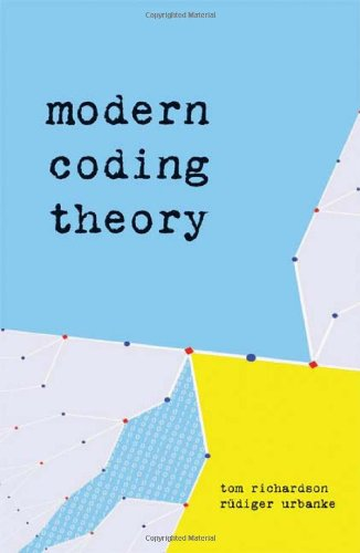 Modern Coding Theory   2008 edition cover
