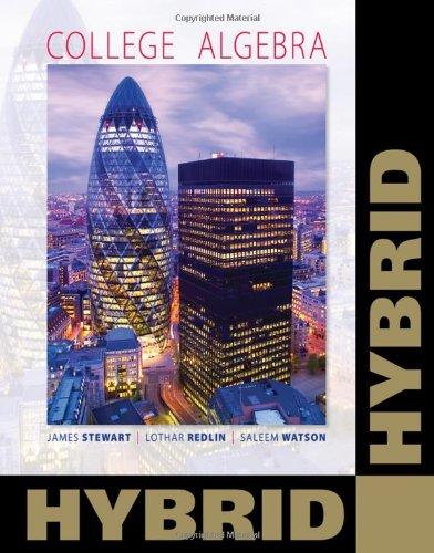 College Algebra, Hybrid   2011 9780538740296 Front Cover