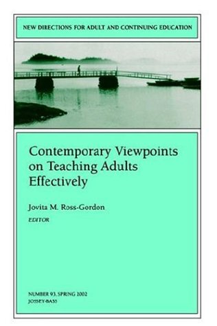 Contemporary Viewpoints on Teaching Adults Effectively   2002 edition cover
