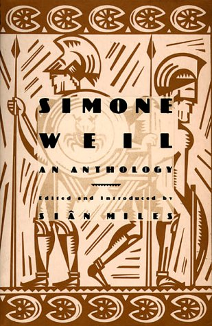 Simone Weil An Anthology Reprint  edition cover