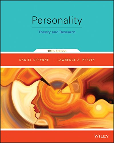 Personality: Theory and Research  2015 9781118976296 Front Cover