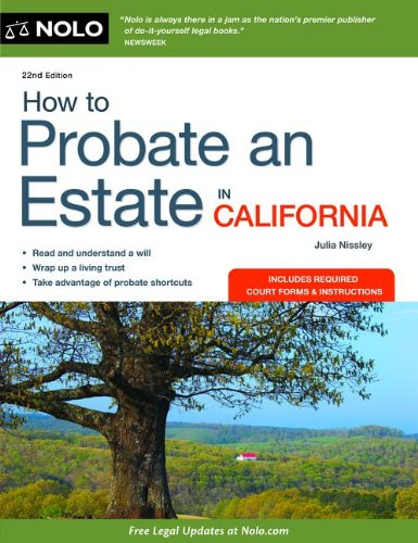 How to Probate an Estate in California  22nd edition cover