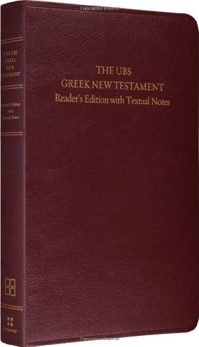 UBS Greek New Testament  N/A edition cover