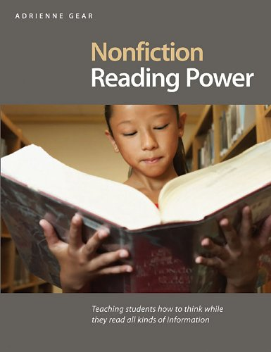 Nonfiction Reading Power Teaching Students How to Think While They Read All Kinds of Information  2008 edition cover
