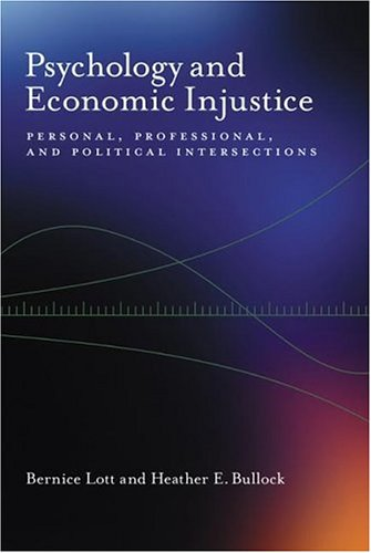 Psychology and Economic Injustice Personal, Professional, and Political Intersections  2006 edition cover