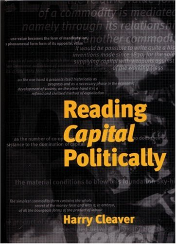Reading Capital Politically  2nd 2000 edition cover