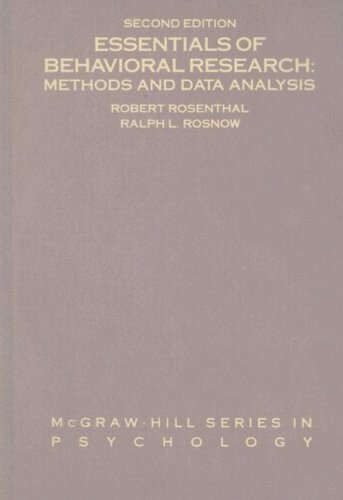Essentials of Behavioral Research Methods and Data Analysis 2nd 1991 (Revised) edition cover