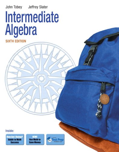 Intermediate Algebra  6th 2010 9780321578297 Front Cover