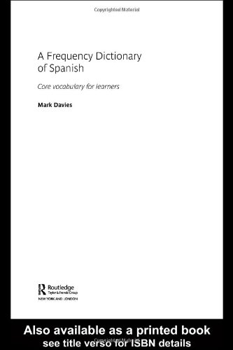 Frequency Dictionary of Spanish Core Vocabulary for Learners  2005 edition cover