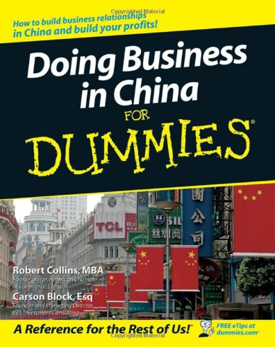 Doing Business in China for Dummies   2007 edition cover