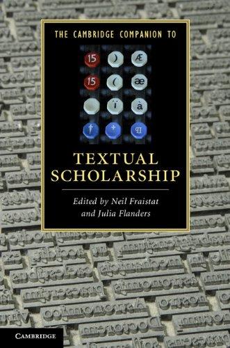 Cambridge Companion to Textual Scholarship   2012 edition cover