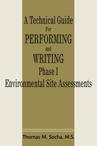 Technical Guide for Performing and Writing Phase I Environmental Site Assessments   2001 edition cover
