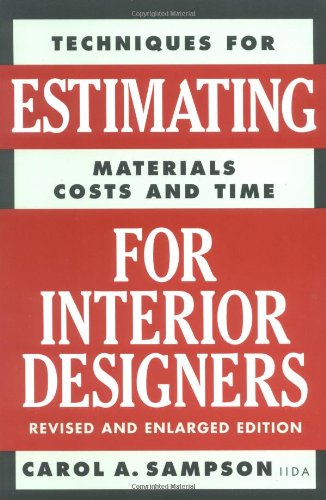 Estimating for Interior Designers  2nd 2001 9780823016297 Front Cover