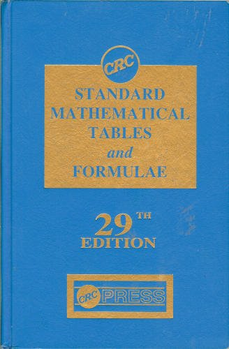 Standard Mathematical Tables and Formulae 29th 1991 edition cover