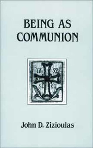 Being As Communion Studies in Personhood and the Church  1985 9780881410297 Front Cover