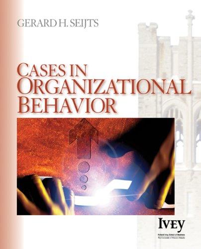 Cases in Organizational Behavior   2006 edition cover