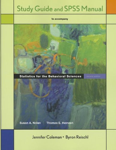 Statistics for the Behavioral Sciences  2nd 2011 (Revised) edition cover