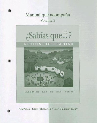 �Sab�as Que? Beginning Spanish 5th 2008 edition cover