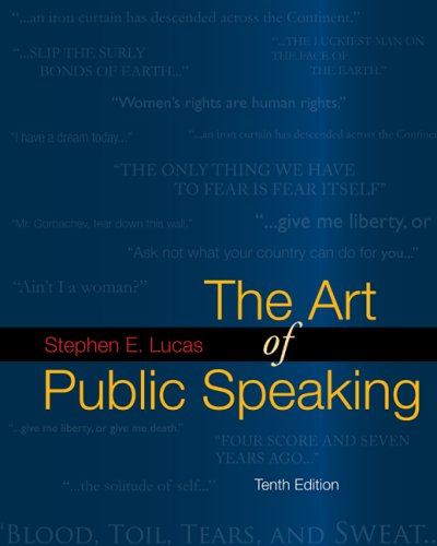 Art of Public Speaking with Connect Lucas  10th 2009 edition cover