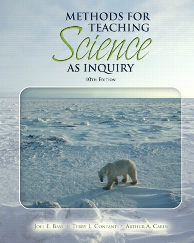 Methods for Teaching Science As Inquiry  10th 2009 edition cover