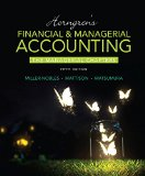 Horngren's Financial and Managerial Accounting, the Managerial Chapters  5th 2016 edition cover
