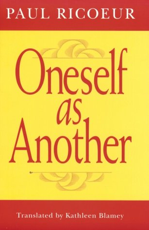 Oneself as Another   1996 (Reprint) edition cover