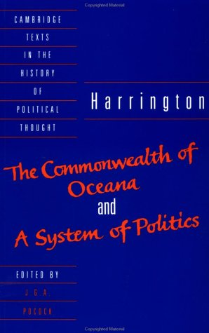 Harrington 'The Commonwealth of Oceana' and 'A System of Politics'  1992 edition cover