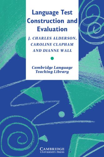 Language Test Construction and Evaluation   1995 9780521478298 Front Cover