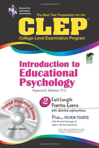 CLEP� Introduction to Educational Psychology  N/A 9780738601298 Front Cover