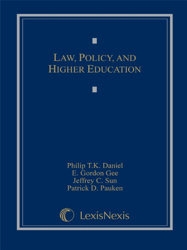 Law, Policy, and Higher Education:   2012 edition cover