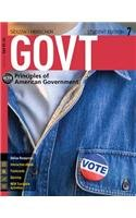 Govt + Coursemate Access Card: Principles of American Government 7th 2015 edition cover