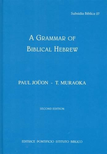 Grammar of Biblical Hebrew  3rd 2006 edition cover