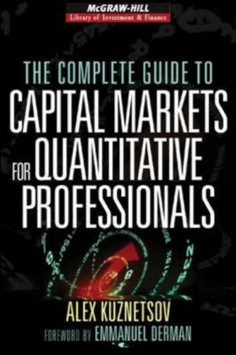 Complete Guide to Capital Markets for Quantitative Professionals   2007 edition cover