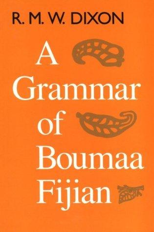 Grammar of Boumaa Fijian   1988 9780226154299 Front Cover