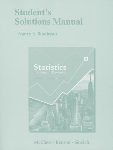 Statistics for Business and Economics:   2012 edition cover