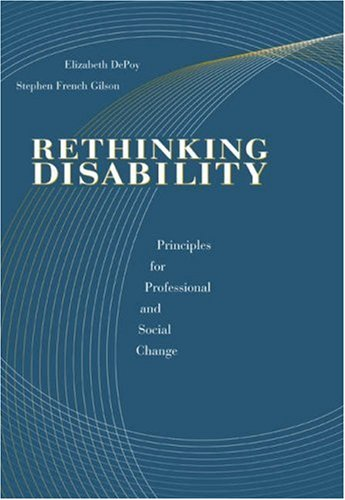 Rethinking Disability Principles for Professional and Social Change  2004 edition cover