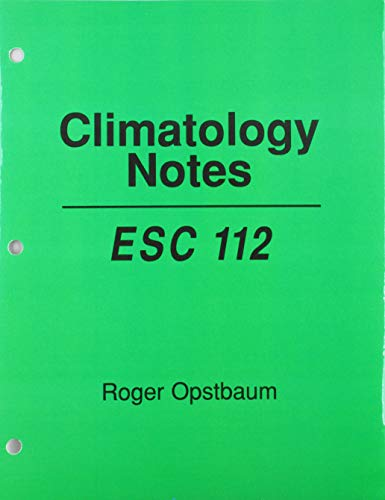 Climatology Notes Esc 112  Revised 9780757513299 Front Cover