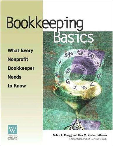 Bookkeeping Basics What Every Nonprofit Bookkeeper Needs to Know  2003 edition cover