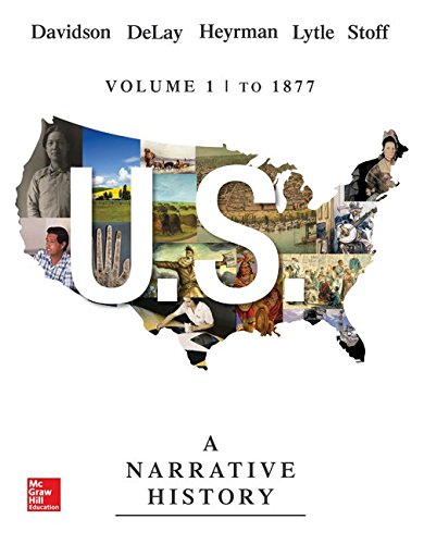 U. S. A Narrative History to 1877 7th 2015 edition cover