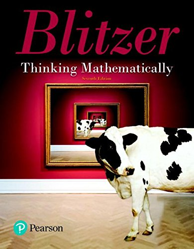 Thinking Mathematically + Mymathlab Access Card: 7th 2018 9780134708300 Front Cover