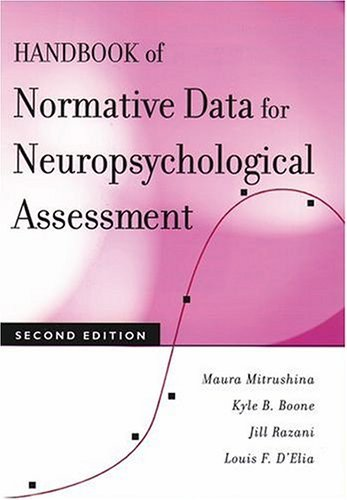 Handbook of Normative Data for Neuropsychological Assessment  2nd 2005 (Revised) edition cover