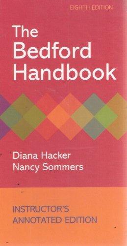 Bedford Handbook 8th 2010 edition cover