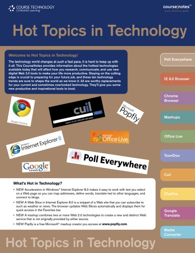 Hot Topics in Technology CourseNotes  N/A 9780538744300 Front Cover