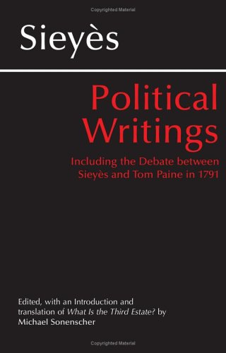 Political Writings Including the Debate Between Sieyes and Tom Paine 1791  2003 edition cover