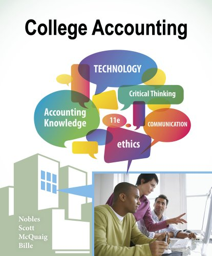 College Accounting, Chapters 1-24  11th 2013 edition cover