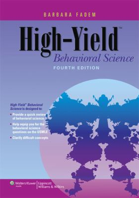 High-Yield Behavioral Science  4th 2013 (Revised) edition cover