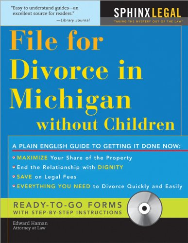 File for Divorce in Michigan Without Children   2008 9781572486300 Front Cover